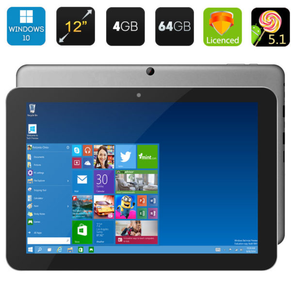 Chuwi Hi12 Tablet PC - 12 Inch IPS Screen, Windows 10