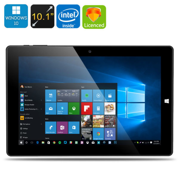 Windows 10 Tablet PC, 10.1 Inch IPS screen with 1920x1200 resolution, Intel Cherry Trail 64 Bit CPU with 4GB DDR3 RAM