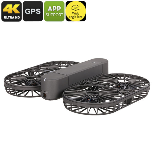 Simtoo Moment Airselfie Drone - Foldable, 13MP CMOS, 147-Degree FOV, 4K Video, GPS, App Control, 100m WiFi Range, Follow Me Mode - NTDAIA-G819