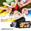 Ordro V12 Digital Video Camera - 1/4-Inch CMOS, 1080p Video, 20MP Pictures, 1000mAh, 16x Zoom, 3-Inch Display