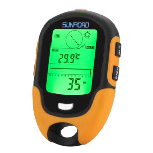 Sunroad FR500 Multifunction Outdoor Altimeter - Barometer, Compass, Thermometer, Hygrometer, LED Torch, IPX4 - NTDLQ-A448